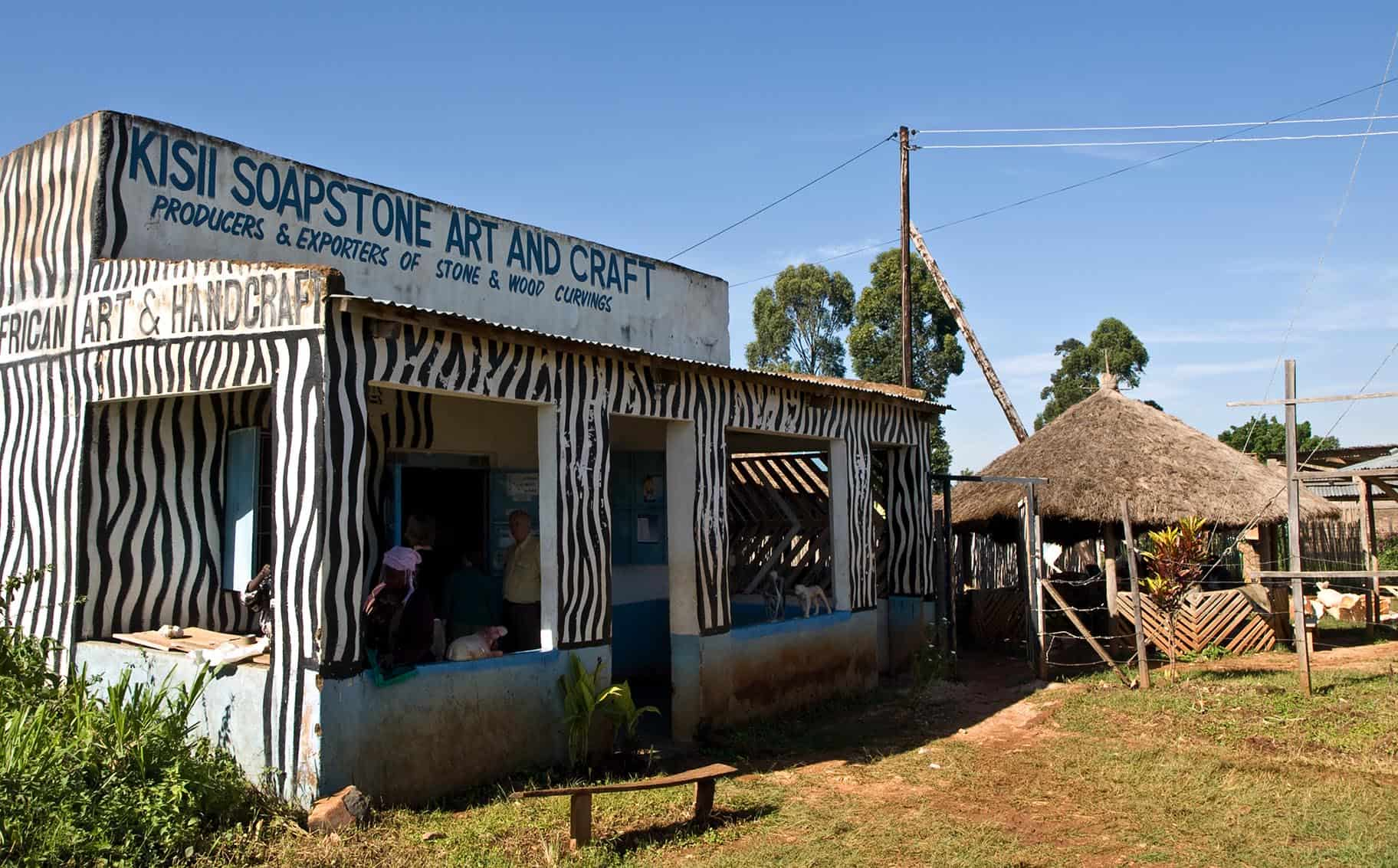 Traditional soapstone carving centre in Kisii, Kenya